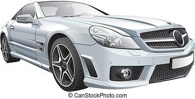 European luxury roadster - Detail vector image of European...