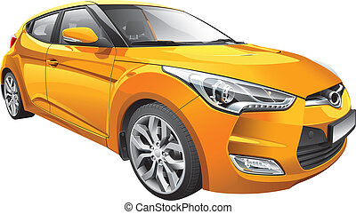 Korean hot hatch - Detail vector image of Korean hot hatch,...