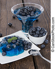 Blueberry Jello with fresh fruits
