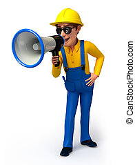 Plumber with loudspeaker