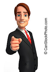 Business man - 3d rendered illustration of Business man