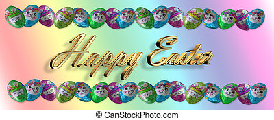 Easter Candy Border Chocolates - Foil covered chocolate...