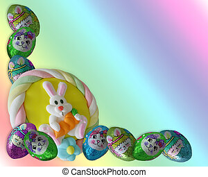 Easter Candy Border Chocolates