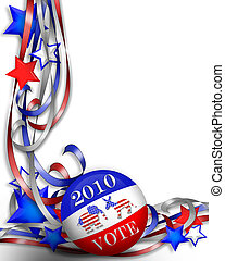 Election Day Vote 2010 - 3 dimensional border graphic for...