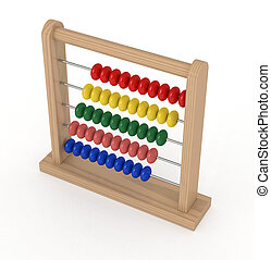 abacus - closeup of an abacus (3d render)