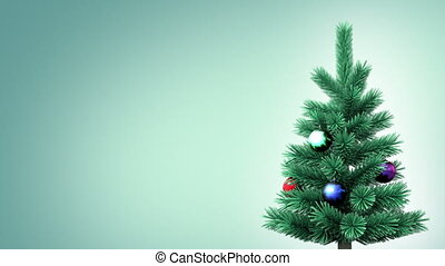 Christmas tree background, seamless looped 3d animation see...
