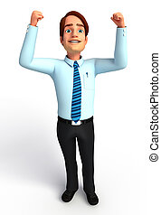 Young Service man - 3d rendered illustration of Young...