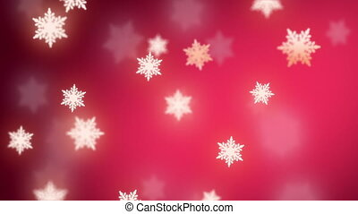 falling snowflakes background