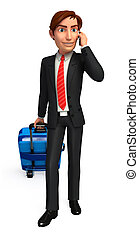 Business man with traveling bag