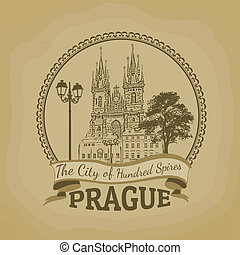Prague ( The city of hundred spires) poster - Landscape of...