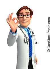 Young Doctor - 3d rendered illustration of Young Doctor