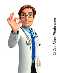Doctor with best sign - 3d rendered illustration of Doctor...