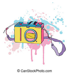 Photo Camera Hand drawn Vector Illustration