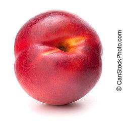 Nectarine fruit isolated on white background cutout -...