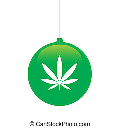 Christmas ball - An isolated christmas ball with icon