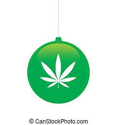 Christmas ball - An isolated christmas ball with icon