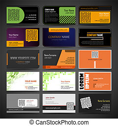 Set of business cards - Vector set of business cards