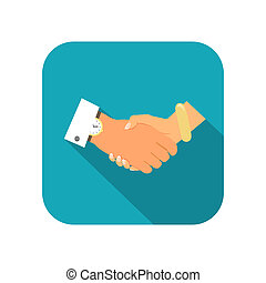 Business person handshake icon vector illustration