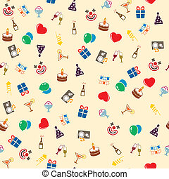 Seamless celebration and party background vector...