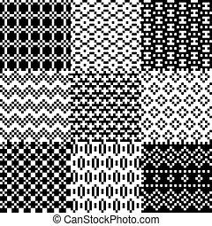 Seamless pixel patterns set