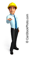Service man - 3d rendered illustration of Service man