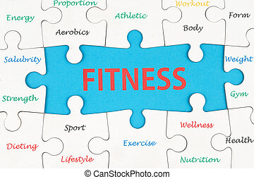 Fitness concept words - Fitness concept wordcloud on group...