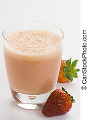 delicious refreshing strawberry orange banana milkshake natural