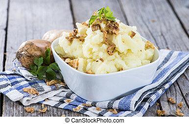 Mashed Potato - Portion of Mashed Potato on vintage...