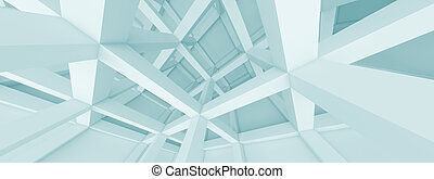 Panoramic Architecture Concept - Abstract Horizontal...