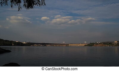 Sunset Light on Hydro Dam Timelapse - Sunset Light on Hydro...