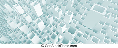 Panoramic Architecture Concept - 3d Abstract Panoramic...
