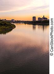 Saskatoon Skyline - The skyline of Saskatoon, Canada at...