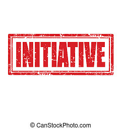 Initiative-stamp - Grunge rubber stamp with word...