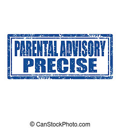 Parental Advisory-stamp - Grunge rubber stamp with text...