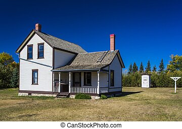 Old Farm House - An old prairie farm house in summer