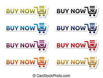 Buy now icon set