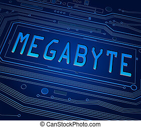 Megabyte concept. - Abstract style illustration depicting...