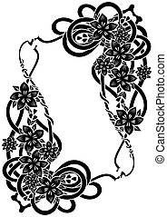 Abstract floral frame