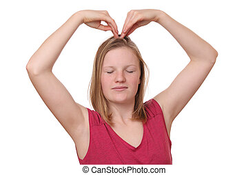 corazón, gesto