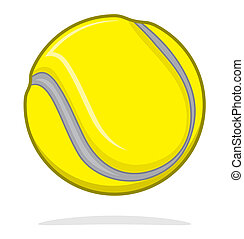 Vector tennis ball isolated on white