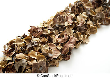 Potpourri on white background