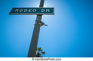 Rodeo Drive Strret sign in Beverly Hills