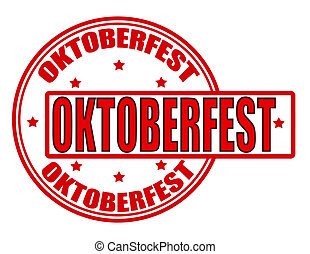 Oktoberfest - Stamp with word Oktoberfest inside, vector...