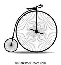 Penny Farthing Silhouette - A typical penny farthing bicycle...