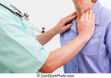 Throat examination - A doctor examining a patients throat...