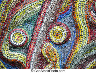 Abstract texture of the glass rod and smalt mosaics - The...