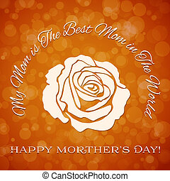Mothers day background with rose