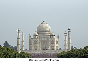 Tomb Built by a Mughal Emperor - Taj Mahal White marble tomb...