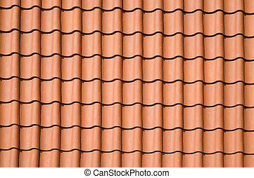 Roof pattern - Clay tiled roof top pattern