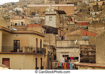 Mountain town Caltabellotta, Sicily - Mountain town -...